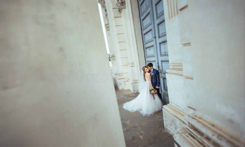 在自然的婚姻的步行 免版税图库摄影
