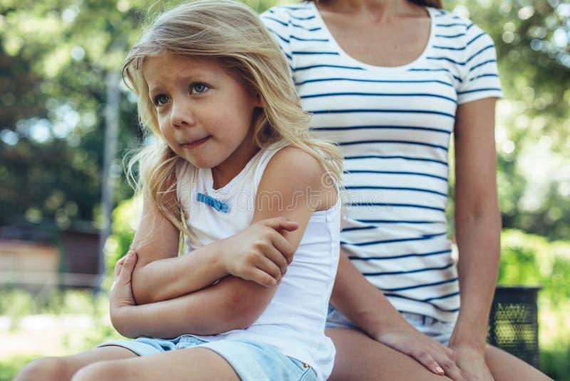 在自然触犯的小孩感觉 库存照片