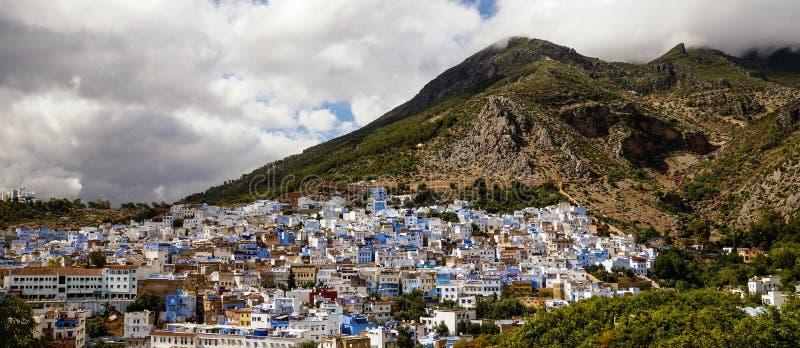 在舍夫沙万的看法在摩洛哥 免版税图库摄影
