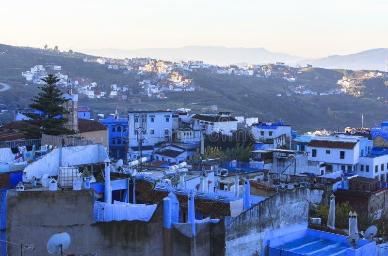 在舍夫沙万麦地那的生活在摩洛哥 图库摄影