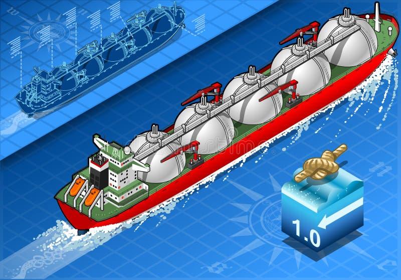 在航海的等量气体邮轮船 向量例证