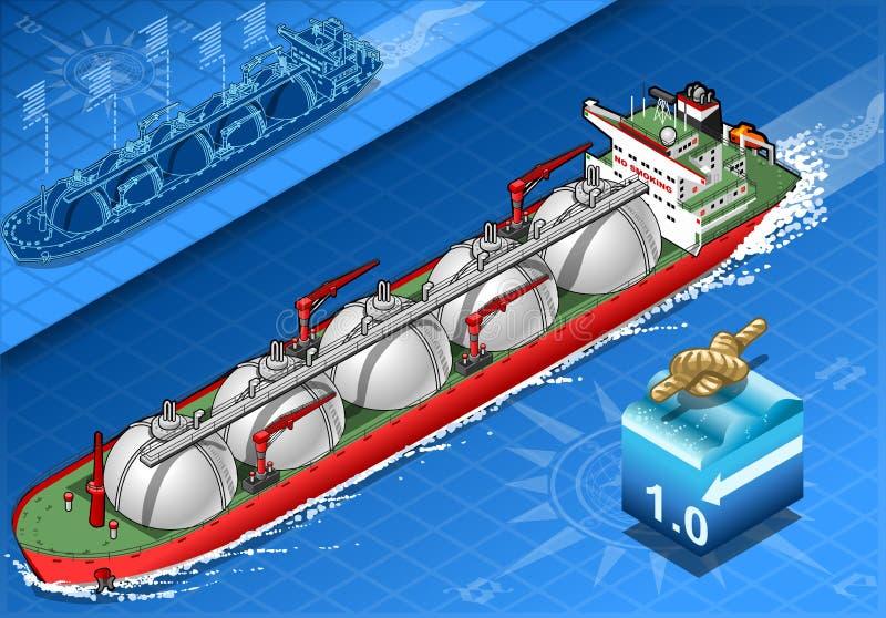 在航海的等量气体邮轮船 库存例证