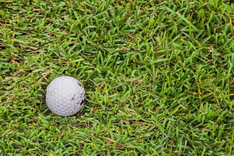 在航路的高尔夫球 库存图片