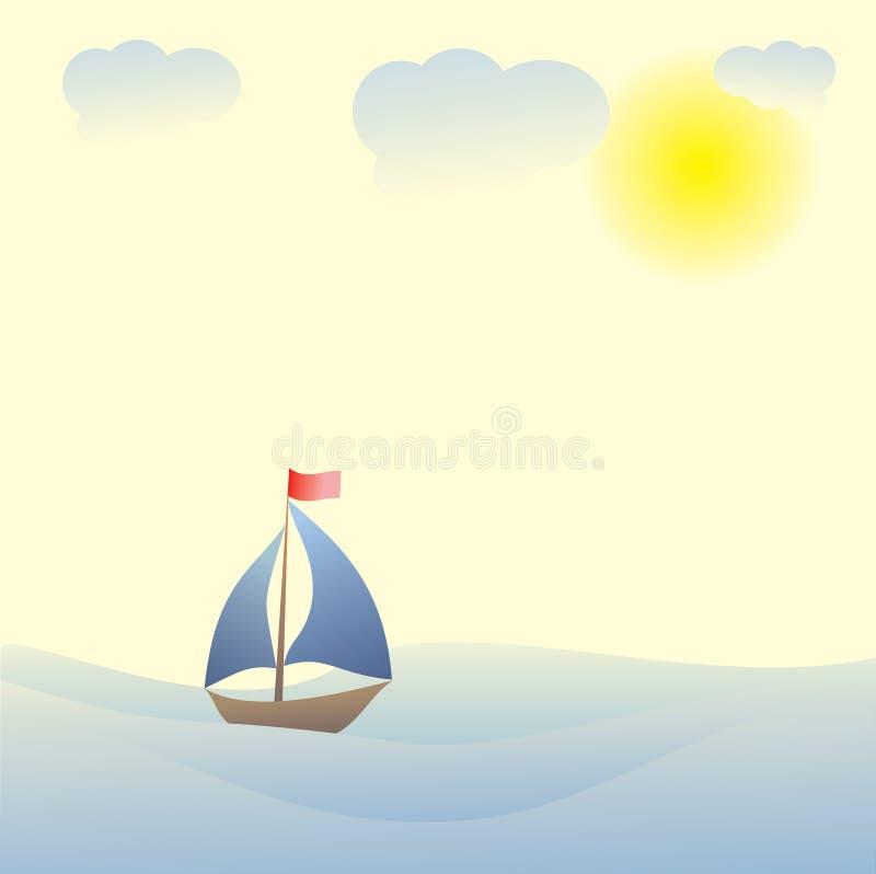 Download 在船的小船旅行 向量例证. 插画 包括有 气候, 休闲, 背包徒步旅行者, lit, 风船, 计算机, 地点 - 30331970