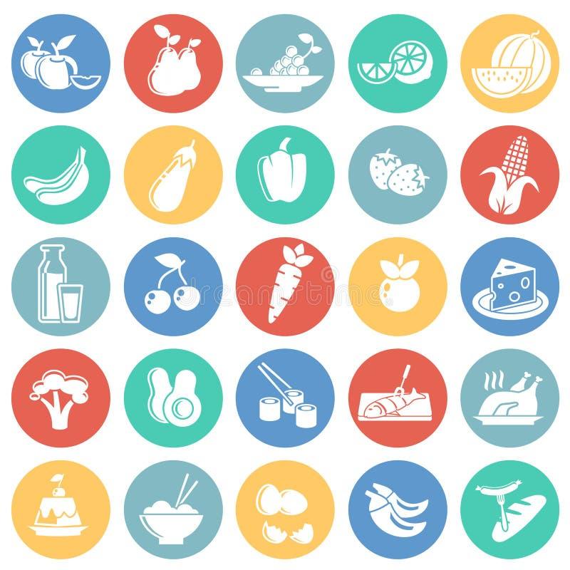 在色环白色背景的健康食品象图表和网络设计的,现代简单的传染媒介标志 背景蓝色颜色概念互联网 库存例证