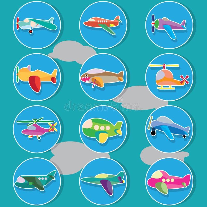 在色环的空中飞机 向量例证