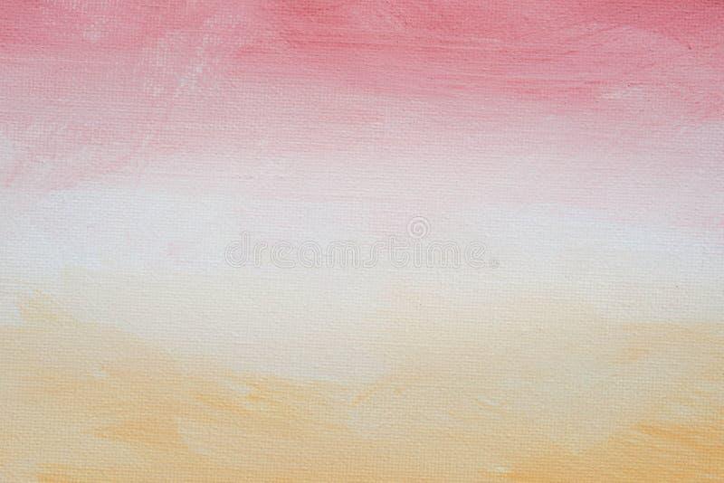 在艺术性的帆布绘的三色背景纹理 库存照片