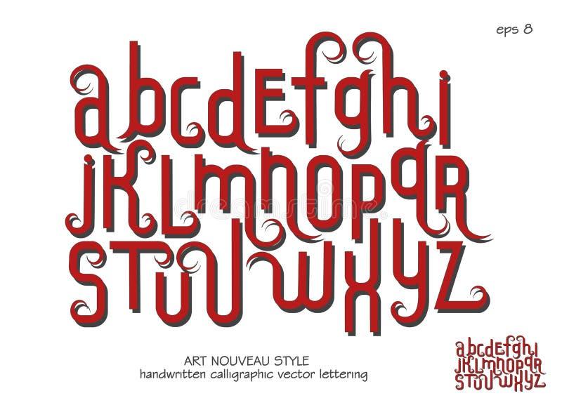 在艺术Nouveau样式的小写字母 向量例证