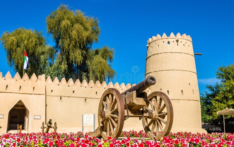 在艾因前面东部堡垒的大炮  免版税图库摄影