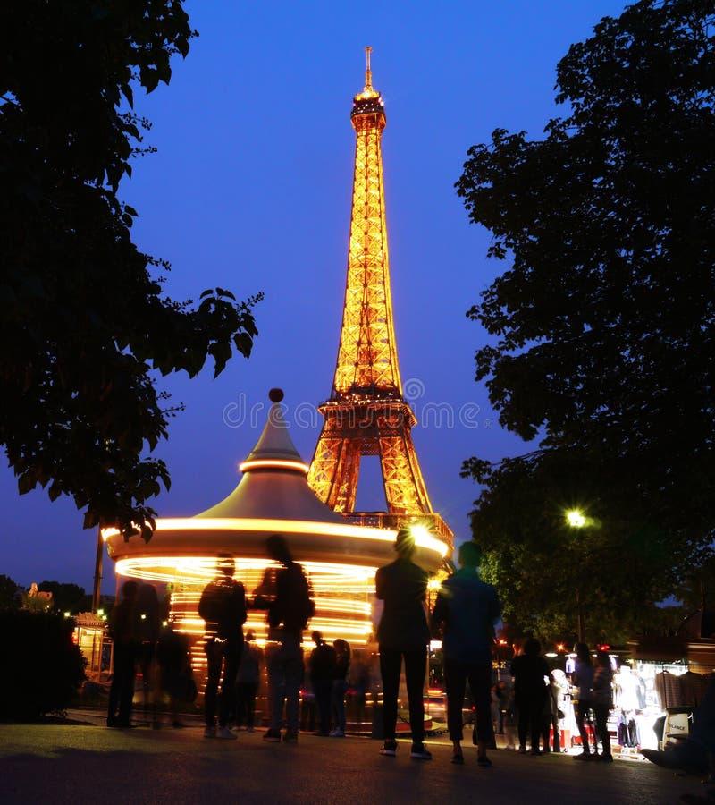 在艾菲尔铁塔的转盘,巴黎 图库摄影
