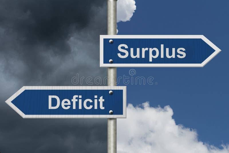 在节余和亏损之间的区别 向量例证