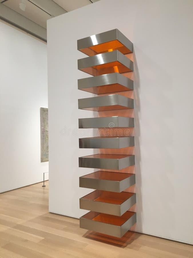 在芝加哥艺术学院的现代雕塑 图库摄影
