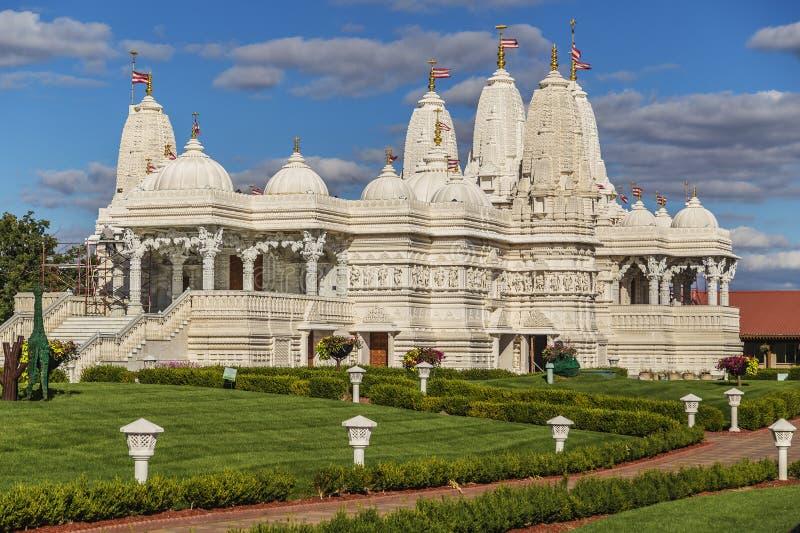 在芝加哥,伊利诺伊附近的印度寺庙 免版税图库摄影