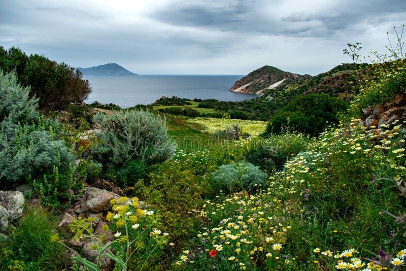 在芦粟海岛,希腊的一个风景 免版税库存照片