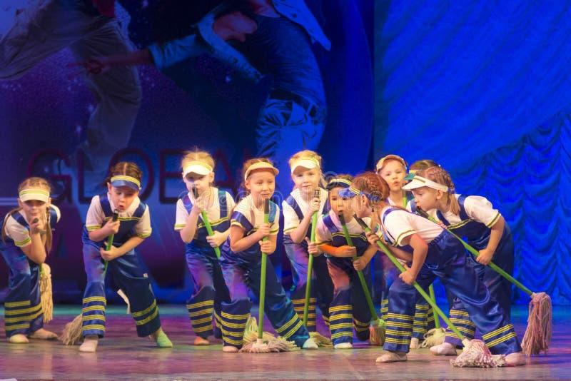 在芭蕾舞蹈艺术的竞争在米斯克,白俄罗斯 免版税库存图片