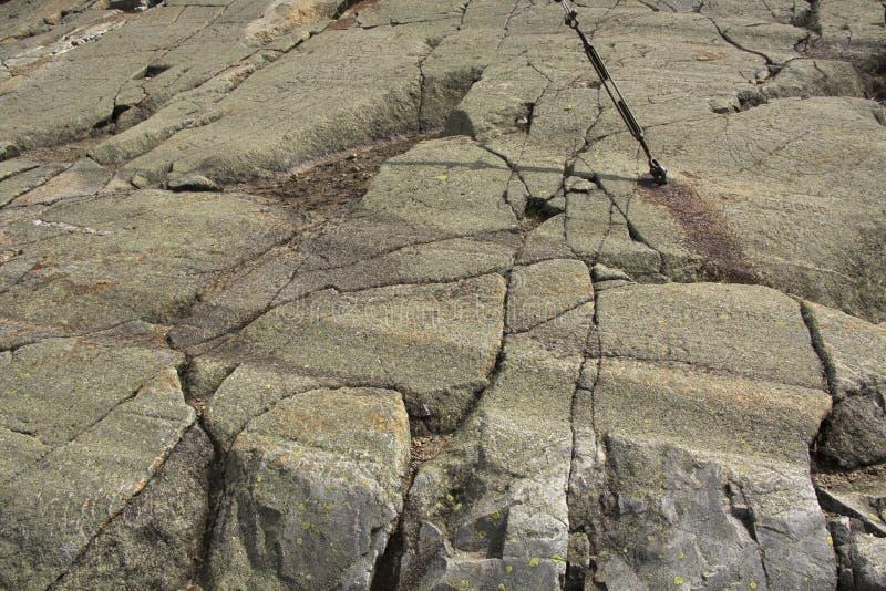 在花岗岩根底, Mt的冰河凹线 Kearsarge,新罕布什尔 库存照片