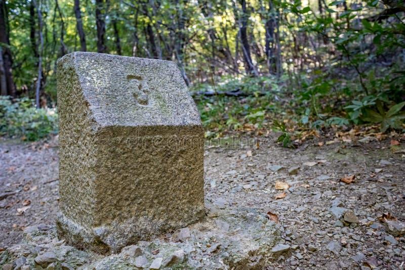 在花岗岩里程碑,Vitosha的第三 免版税库存照片