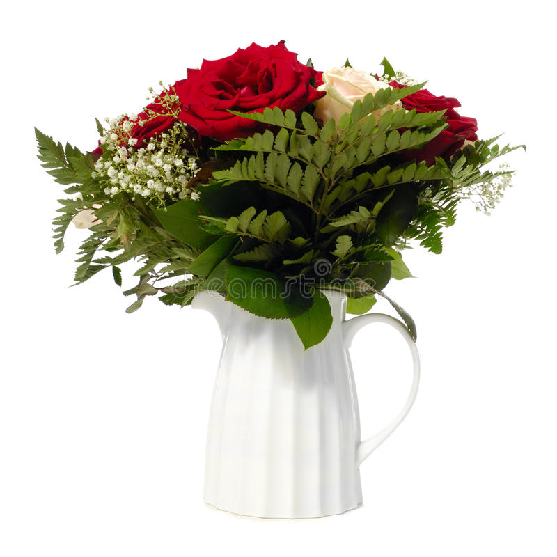 在花瓶的花束 免版税库存图片