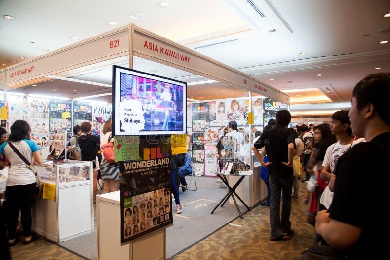 在芳香树脂节日亚洲的亚洲Kawaii方式-印度尼西亚2013年 免版税库存照片