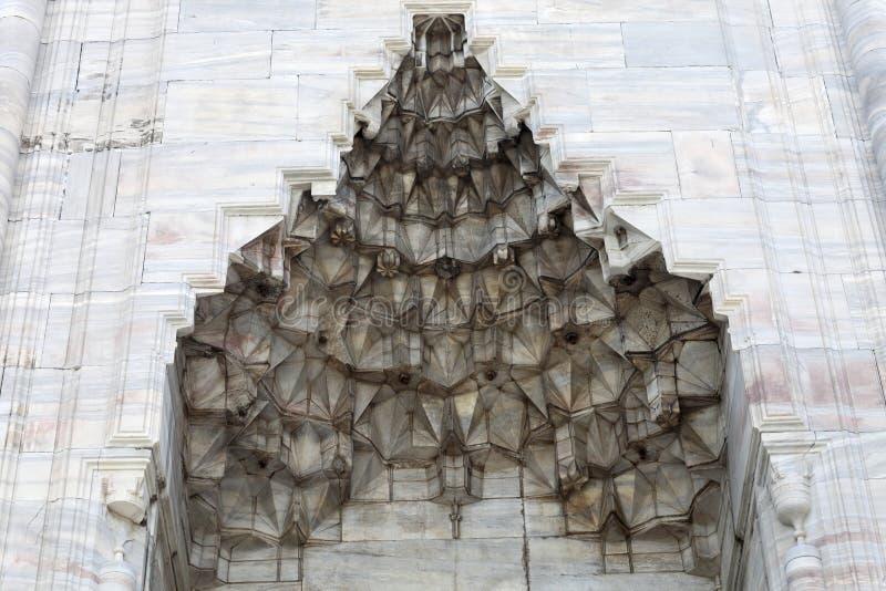 在苏丹阿哈迈德清真寺墙壁的适当位置  库存图片