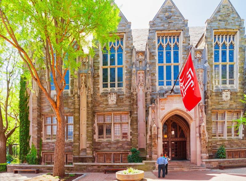 在苏利万霍尔的Peiople在天普大学在费城 免版税库存照片