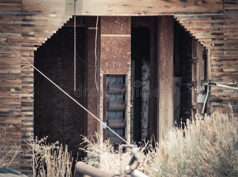 在苏打斯普林斯谷物仓库的找找 免版税库存图片