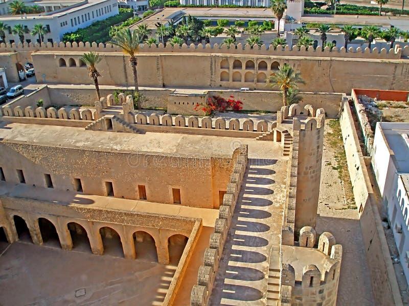 在苏斯上,突尼斯麦地那的顶视图  免版税库存图片