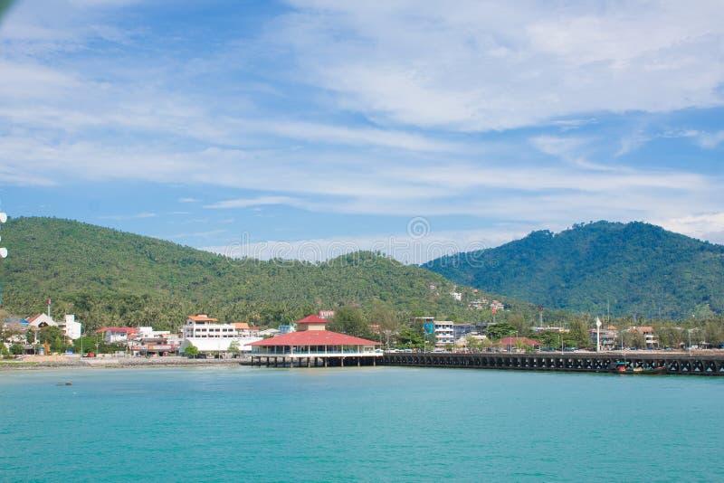 在苏梅岛泰国的口岸 库存图片