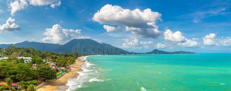 在苏梅岛的拉迈海滩 图库摄影