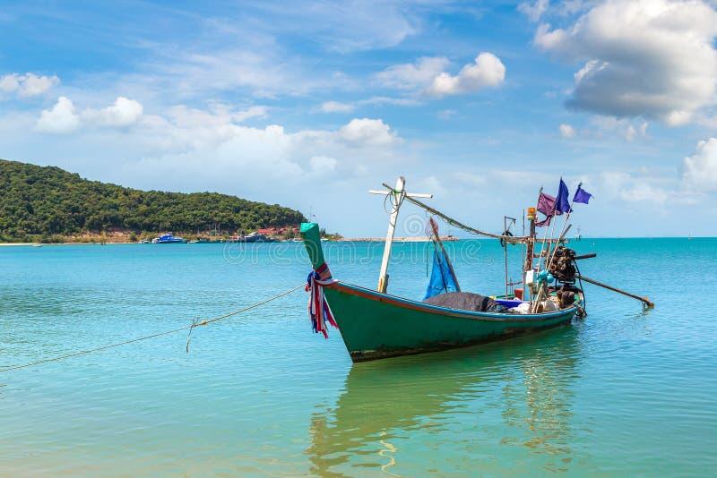 在苏梅岛的渔船 免版税库存照片