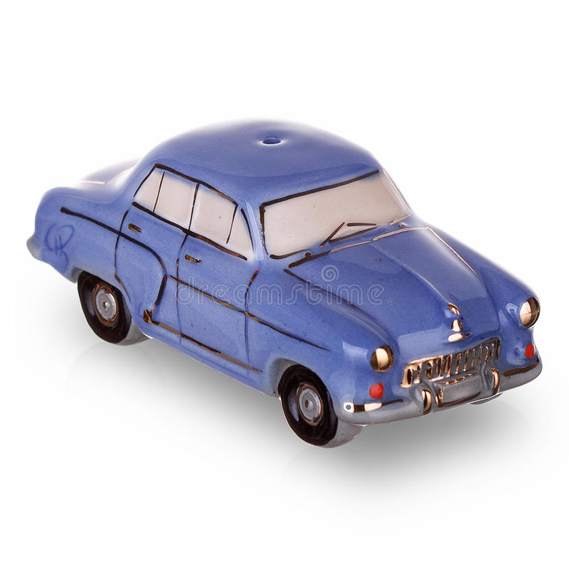 在苏联制造的葡萄酒俄国汽车比例模型 免版税库存图片