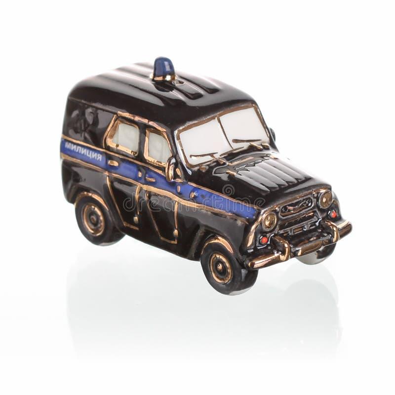 在苏联制造的葡萄酒俄国汽车比例模型 图库摄影