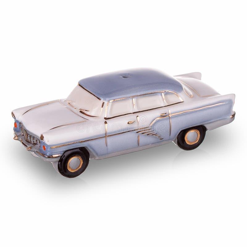 在苏联制造的葡萄酒俄国汽车比例模型 免版税库存照片