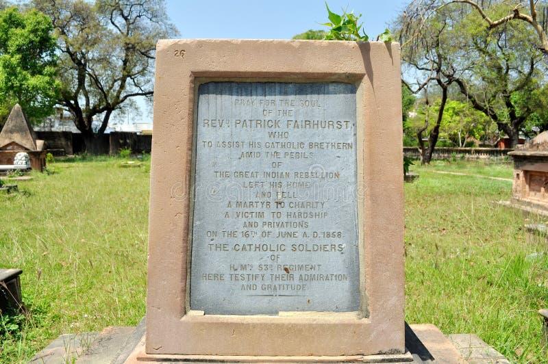 在英国居住的墓碑 免版税库存图片