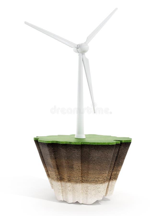 Download 在草的风轮机 库存例证. 插画 包括有 次幂, 涡轮, 环境, 可延续, 本质, 生态, 生成器, 空白 - 62531804