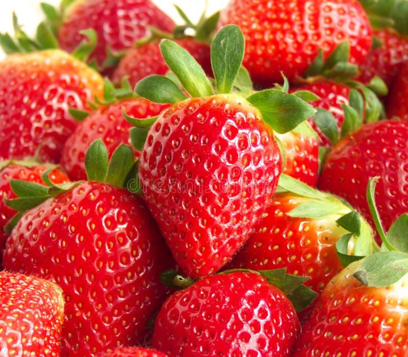 在草莓bok的可口红色草莓 免版税库存图片