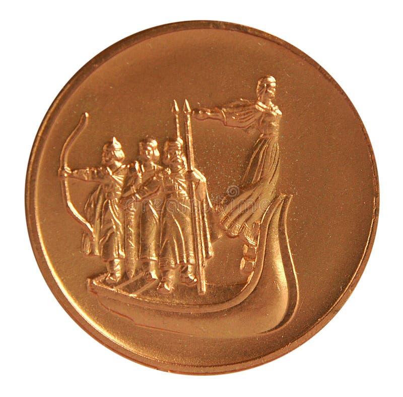 在荣誉的奖牌对基辅的传奇创建者 图库摄影
