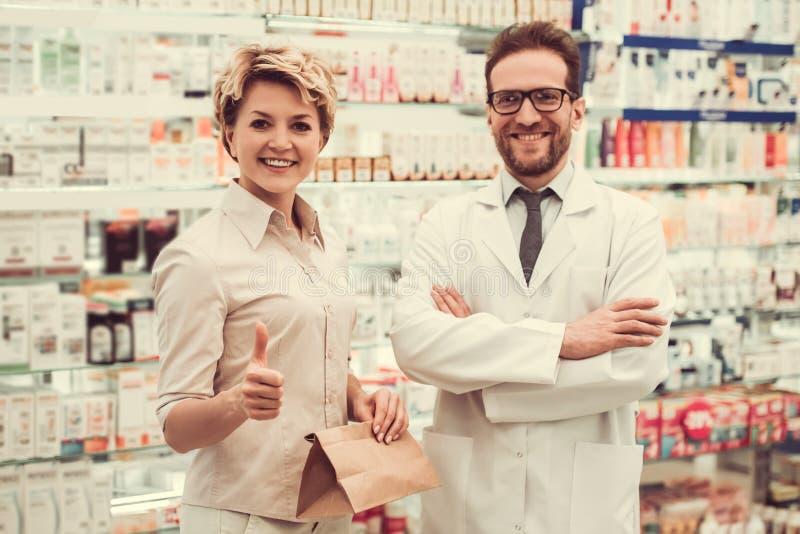 在药房 免版税库存照片