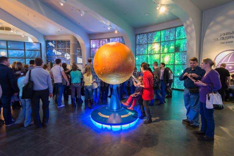 在莫斯科天文馆,俄罗斯博物馆缪斯女神的大地球  免版税库存照片
