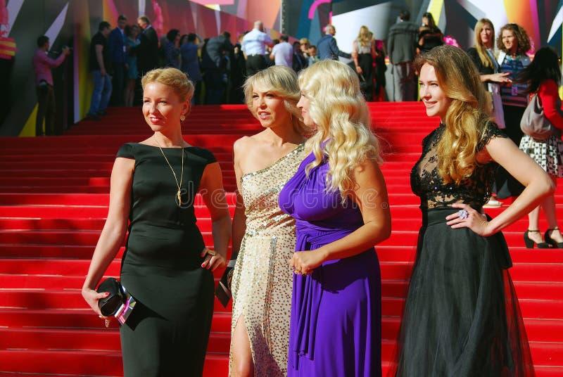 在莫斯科电影节的名人 图库摄影