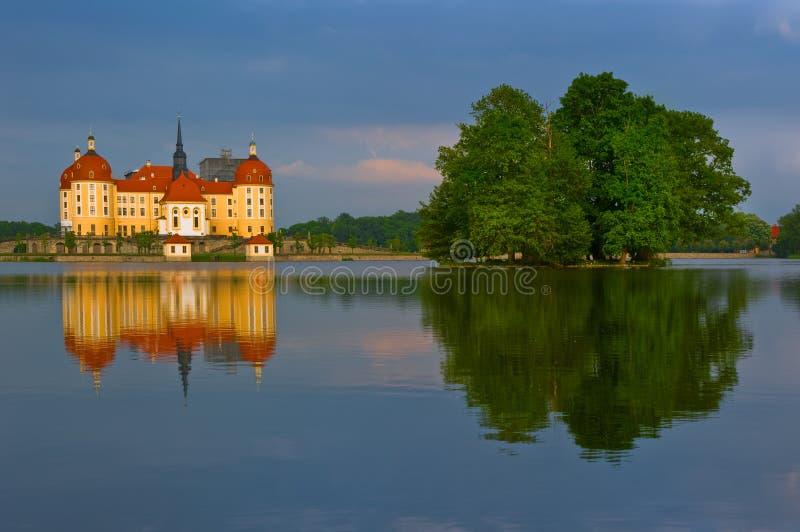 在莫里茨堡的城堡在德国 库存照片