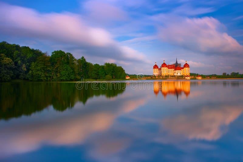在莫里茨堡的城堡在德国 免版税库存图片