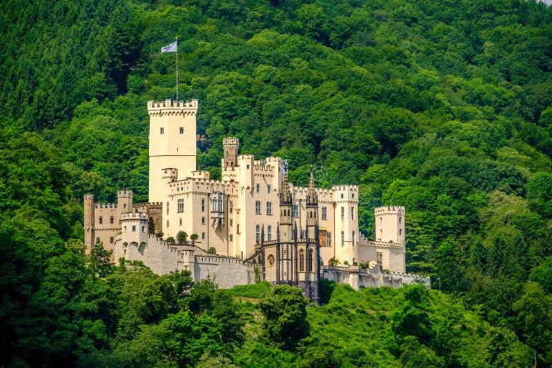 在莱茵河谷的Stolzenfels城堡在科布伦茨,德国附近 免版税图库摄影