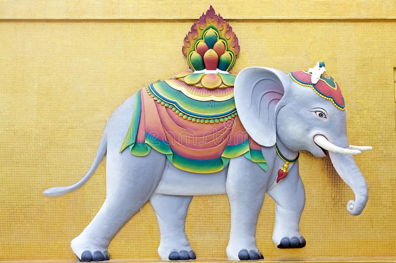 在菩萨Dordenma,廷布,不丹的大象 库存照片