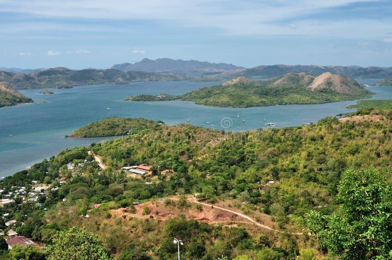 在菲律宾小的海岛的视图  免版税库存照片