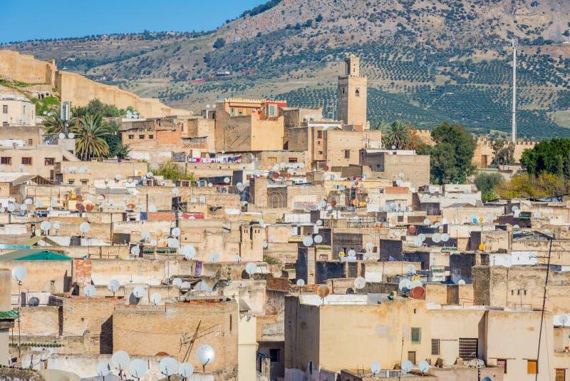 在菲斯,摩洛哥的看法 库存照片
