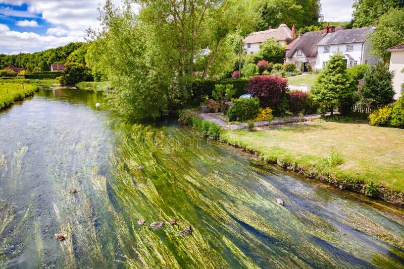 在萨利南英国英国附近的河Avon 免版税库存图片