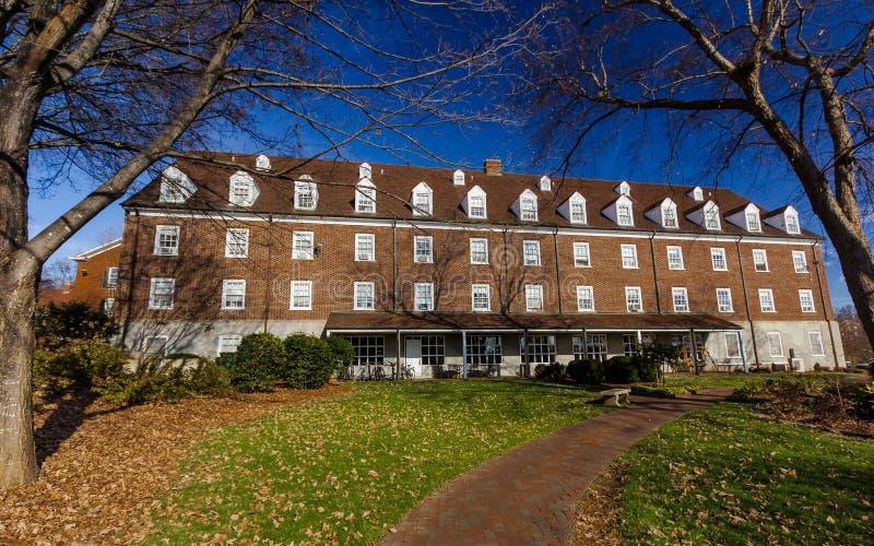在萨利姆学院的巴布考克的宿舍 免版税库存图片