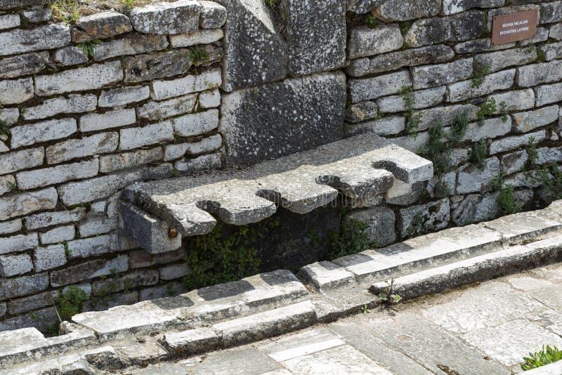 在萨第斯的亚底米神庙 萨利赫利,马尼萨-土耳其 免版税库存照片