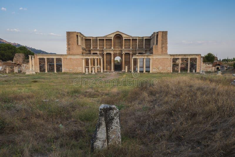 在萨第斯的亚底米神庙 免版税库存照片